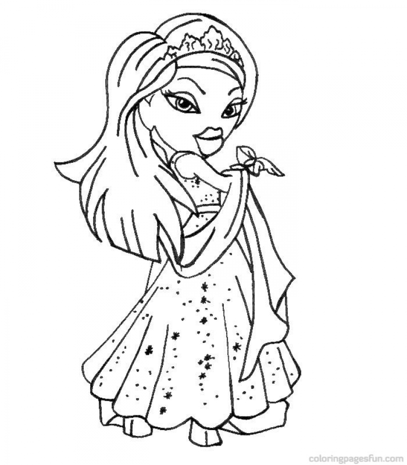 Get This Bratz Coloring Pages Online 76nvl