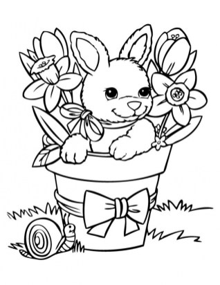 Bunny Coloring Pages Free Printable 38896
