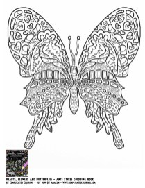 Butterfly Coloring Pages Adults Printable ayu5