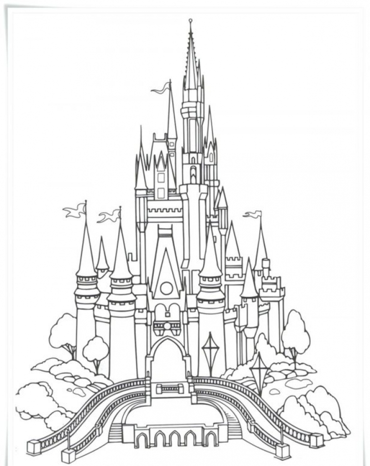 Castle Coloring Pages for Adults   83957