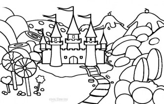 Castle Coloring Pages for Kids twms5
