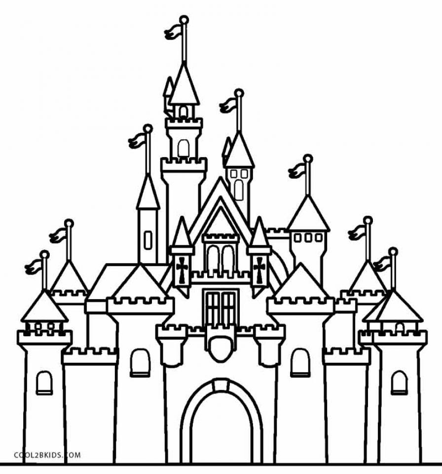 Castle Coloring Pages Free   bgo7