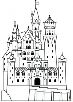 Castle Coloring Pages Online xq6dh