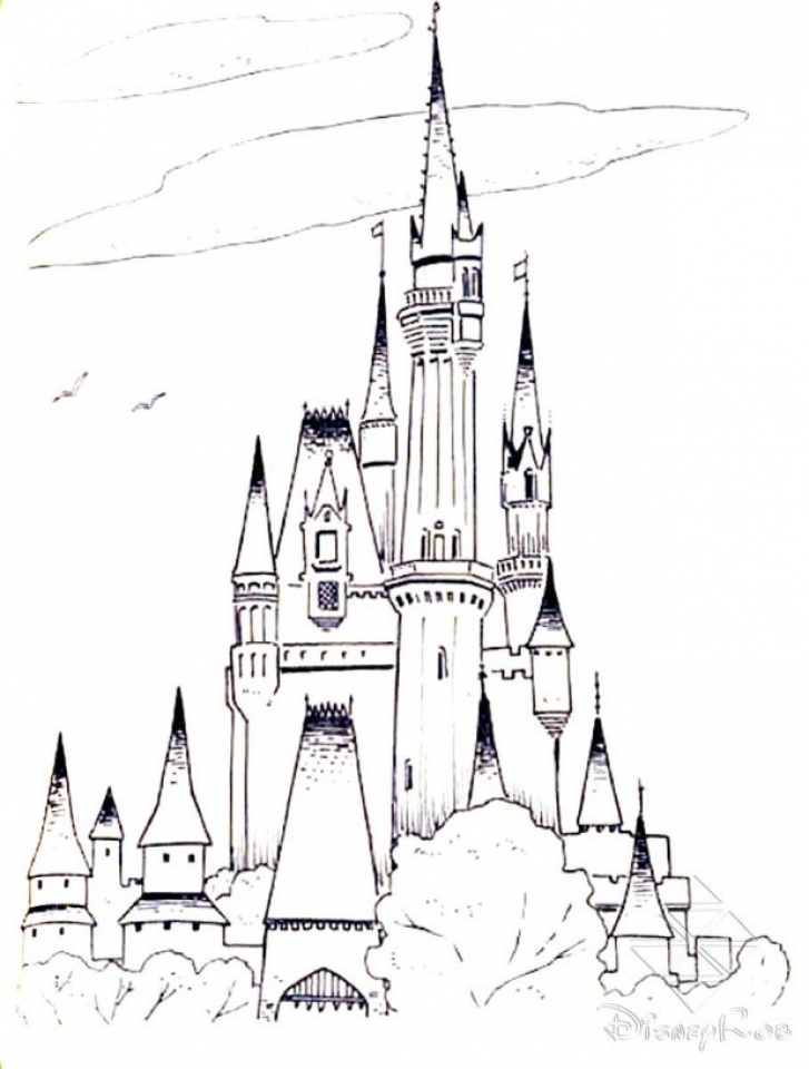 Castle Coloring Pages to Print for Free   gs3ml