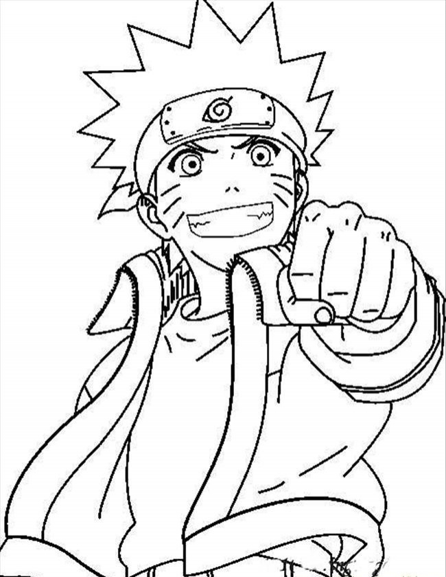 Coloring Pages of Naruto   90621
