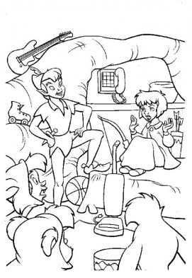 Coloring Pages of Peter Pan to Print 5hflt