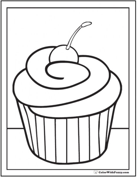 Cupcake Coloring Pages Free 11673