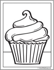 Cupcake Coloring Pages Free 74162