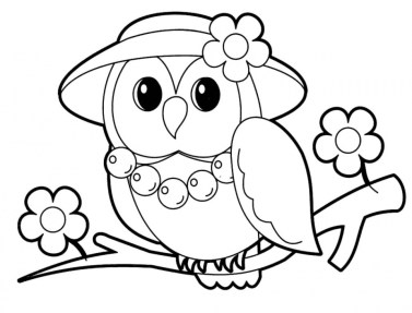 Cute Animal Coloring Pages for Toddlers ayt49