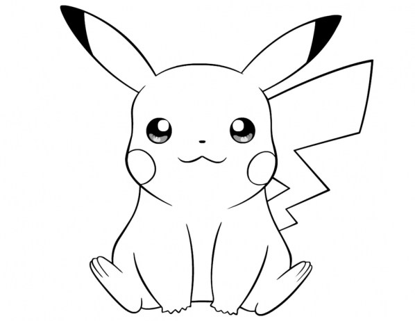 Cute Pikachu Coloring Pages 8vbg3