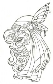Day of the Dead Coloring Pages Adults Printable 7vba1