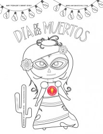 Day of the Dead Coloring Pages Free to Print yvnt2
