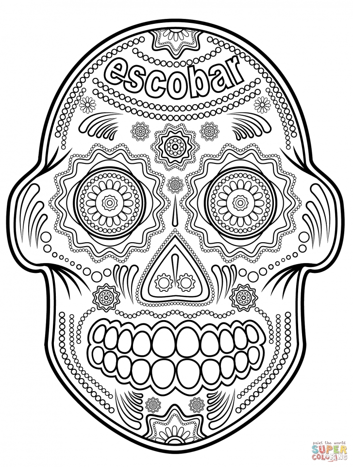 Day of the Dead Sugar Skulls Coloring Pages   2nvh4