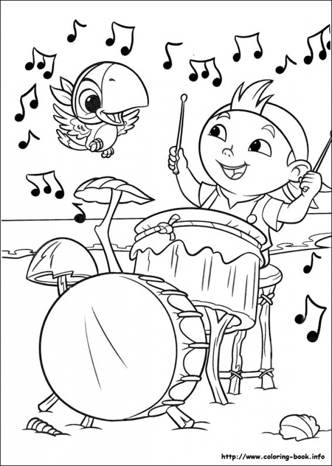 Disney Jake and The Neverland Pirates Coloring Pages   tx21n
