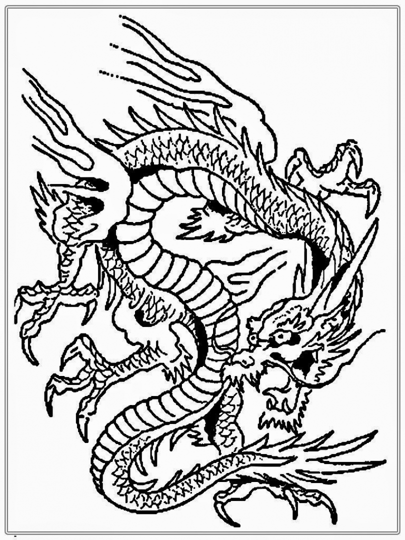 Dragon Coloring Pages for Adults Free   wah60