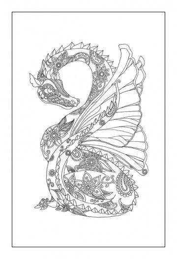 Dragon Coloring Pages for Adults to Print 261a1