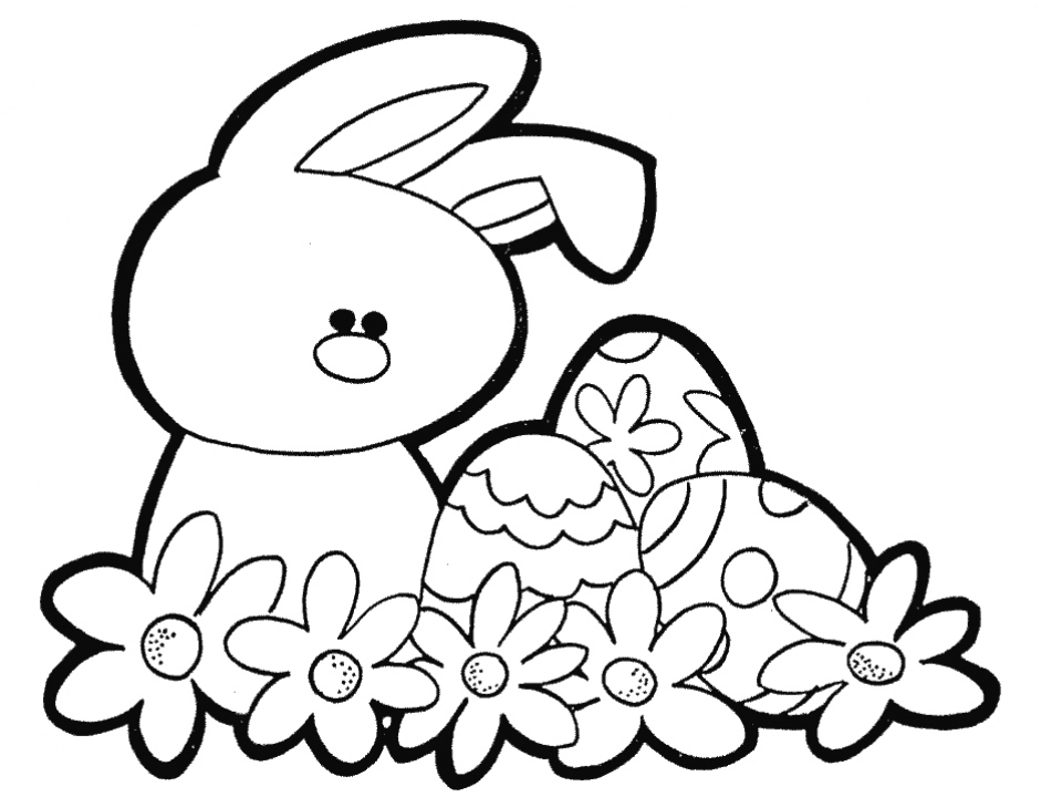 Easter Bunny Coloring Pages for Kids   96041