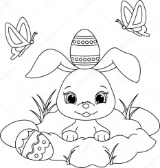 Easter Bunny Coloring Pages for Preschoolers 85031