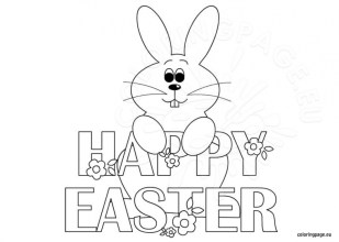 Easter Bunny Coloring Pages for Toddlers 74513