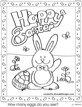 Easter Bunny Coloring Pages Printable 42585