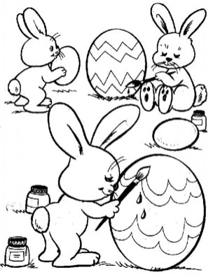 Easter Bunny Coloring Pages to Print 74912