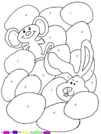Easter Bunny Coloring Pages to Print Color by Number 74510