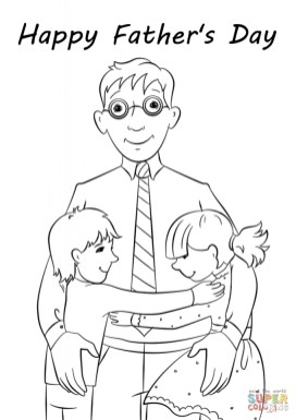Father's Day Card Coloring Pages 1agrm