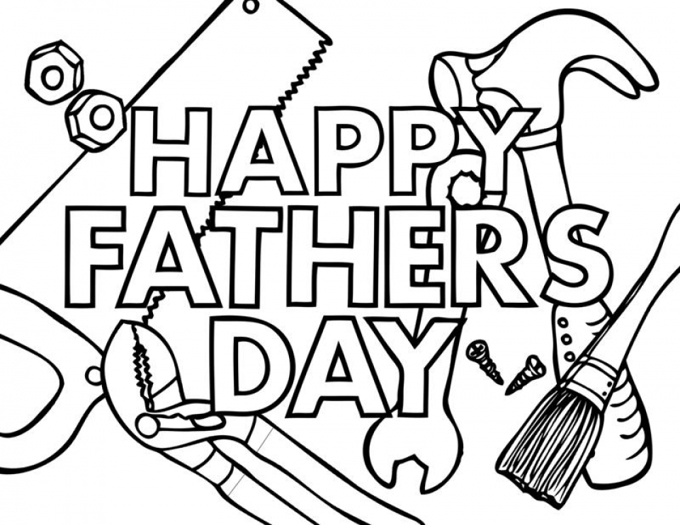 Father's Day Coloring Pages Free Printable   ayem2