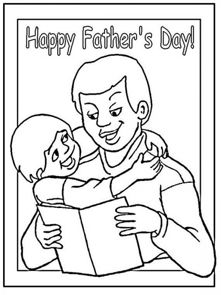 Father's Day Coloring Pages Free Printable   ycab4