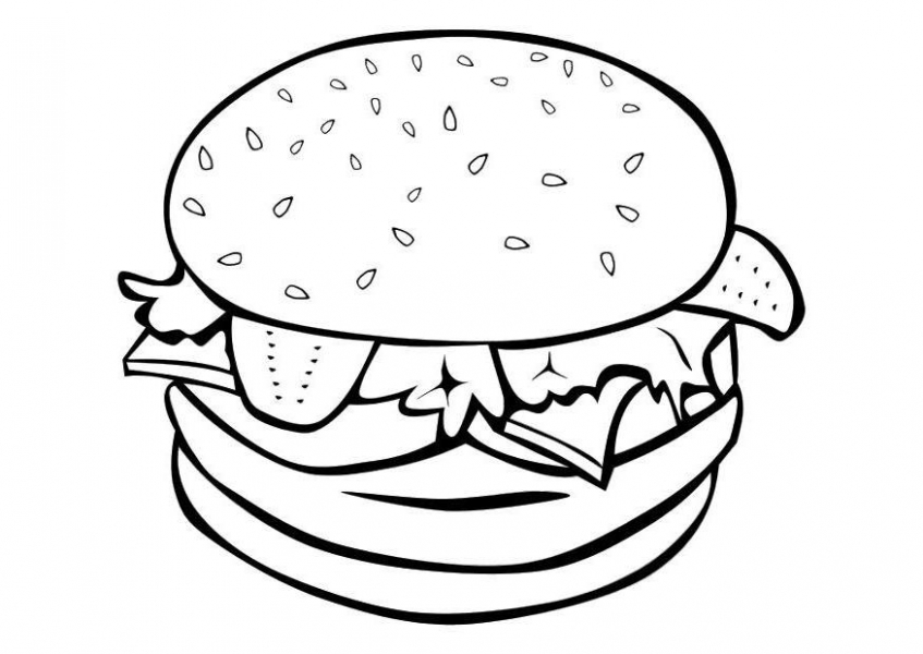 Food Coloring Pages hamburger   ldtx4