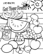 Food Coloring Pages healthy fruit i84bc