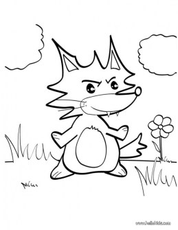Fox Coloring Pages for Toddlers 2na7l