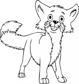 Fox Coloring Pages Printable 2ay71