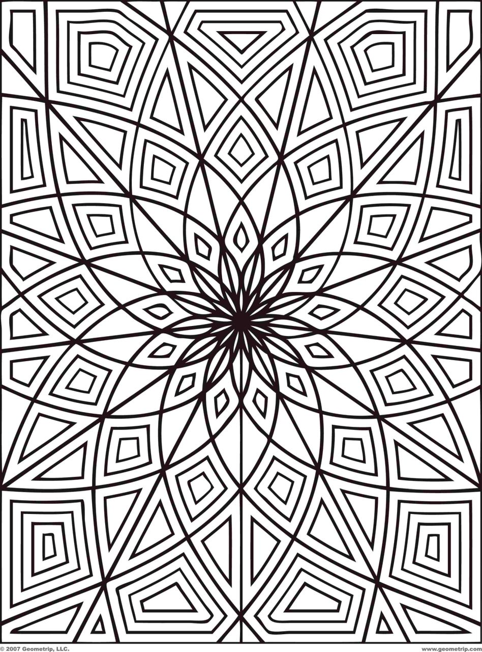 geometric design coloring pages - 64566
