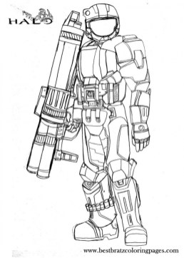 Halo Coloring Pages for Kids 15ag6