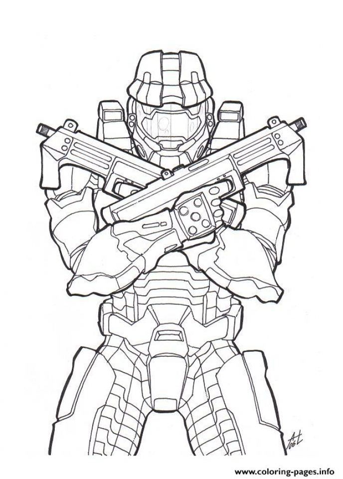 Halo Coloring Pages Printable   91549