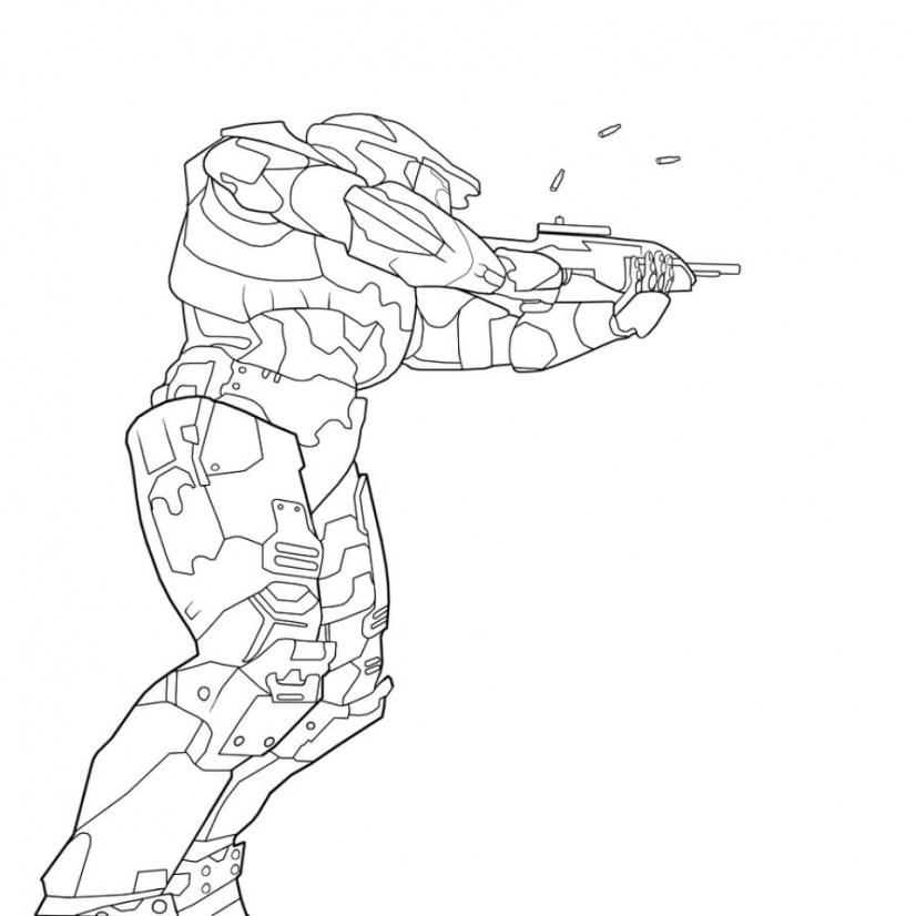 Halo Coloring Pages Printable for Boys 71627