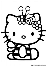 Hello Kitty Coloring Pages Free am47v