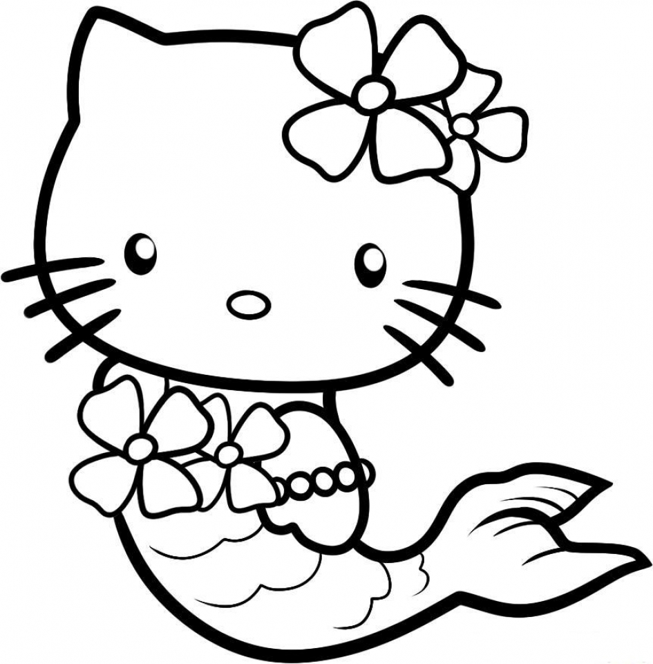 Get This hello kitty coloring pages mermaid 0vn3b