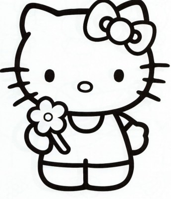 Hello Kitty Coloring Pages Printable 10gj7