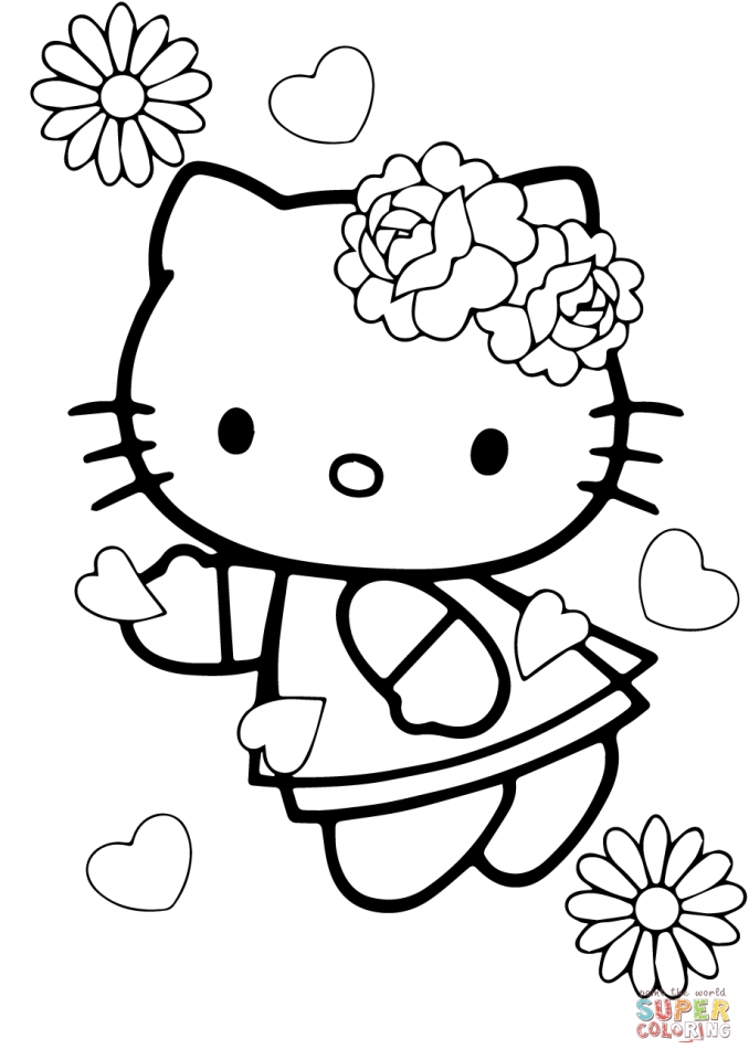hello kitty coloring pages valentines day   tsn69
