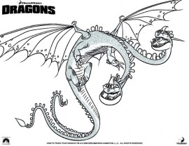 How to Train Your Dragon Coloring Pages to Print 8561a