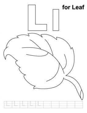 Leaf Coloring Pages Free to Print 06712