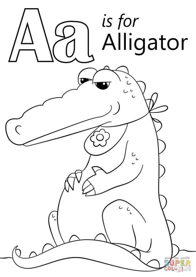 Letter A Coloring Pages Alligator   2b47c