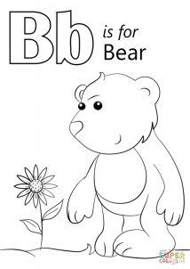 Letter B Coloring Pages Bear 7vb3m