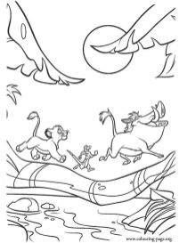 lion king coloring book pages - 7831a