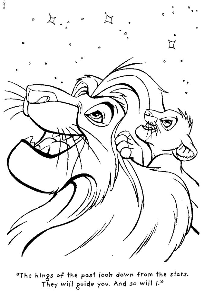 lion king coloring book pages - 89310