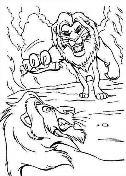 Lion King Coloring Pages Disney 9fhg5
