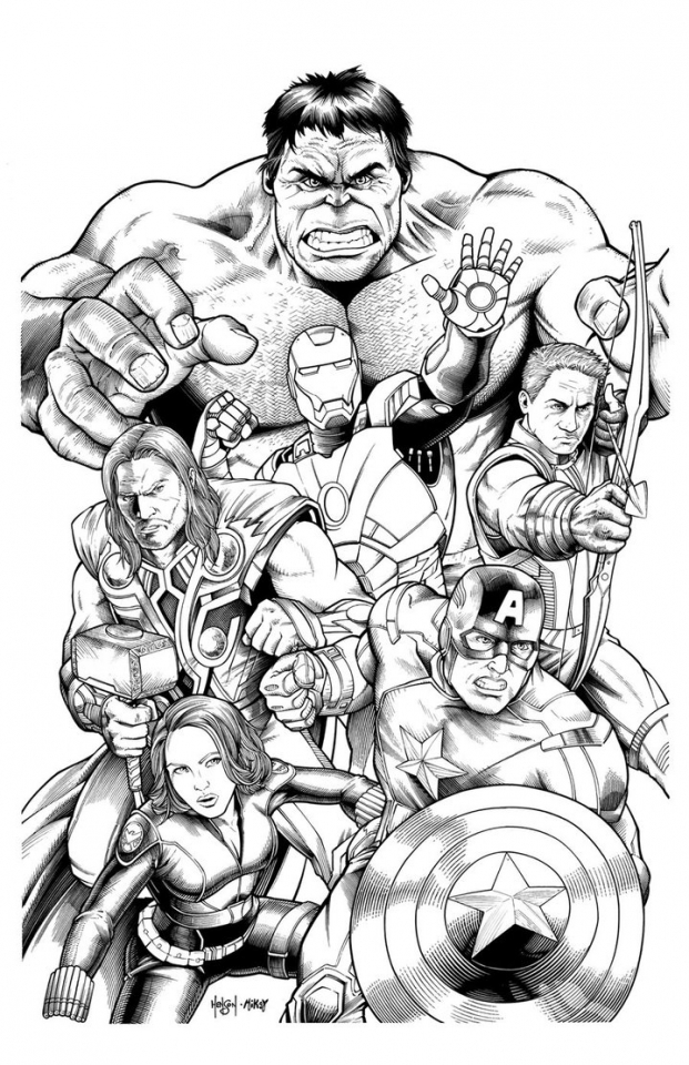 marvel avengers coloring pages   952j3
