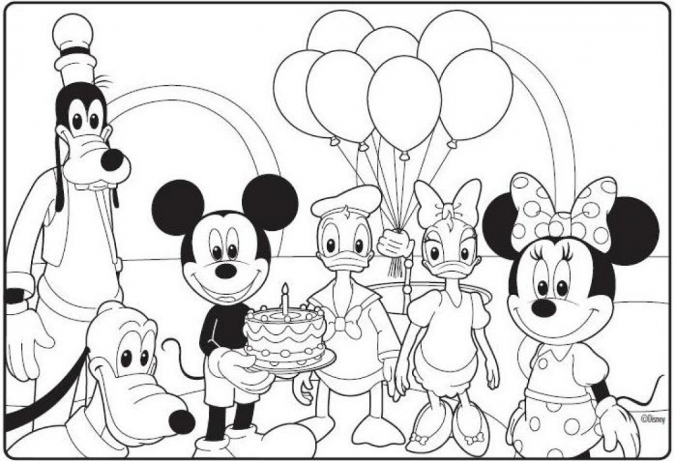 Mickey Mouse Clubhouse Coloring Pages Free   2a61m